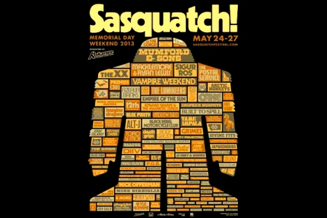 Sasquatch lineup